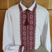 Мужская сорочка вышиванка с воротником
