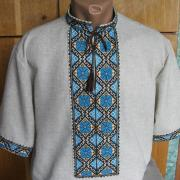 Мужская тениска вышиванка  c коротким рукавом