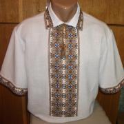 Мужская вышиванка тениска с коротким рукавом купить