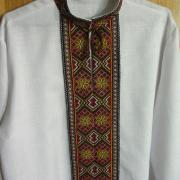 Мужская сорочка вышиванка с украинским орнаментом