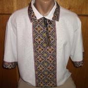 Літня чоловіча вишиванка з коротким рукавом