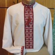 Сорочка вишиванка чоловіча червоно - чорний орнамент купити