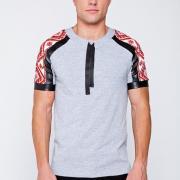 Мужская футболка с принтом вышивки купить Киев
