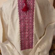 Мужская вышиванка ручной работы на льне купить Киев