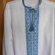 Мужская сорочка вышиванка синяя