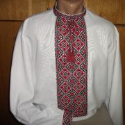 Мужская вышиванка с украинским орнаментом купить Киев