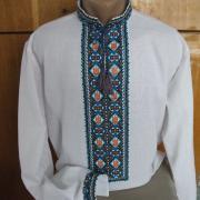 Мужская вышитая рубашка крестиком