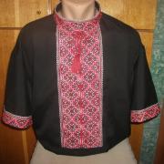 ФотоМужская вышиванка черная летняя