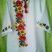 Купить мужскую вышиванку с маками Киев