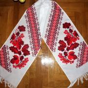 Свадебное полотенце с дубом и калиной