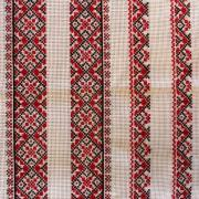 Українська вишиванка для хлопчика - червоно-чорна