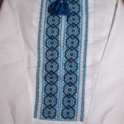 Вышиванка для мальчика - черно-синяя