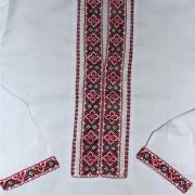 Дитяча українська вишиванка на хлопчика - чорно-червона