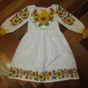 """Сукня-вишиванка на дівчинку - """"Соняшники"""""""