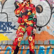 Жіночий квітковий спортивний костюм купити Київ