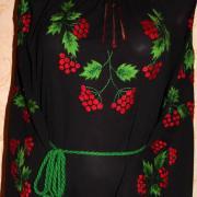 Вышитое черное шифоновое женское платье в интернет-магазине вышиванок