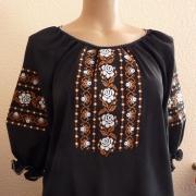 Блуза на черном шифоне