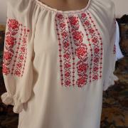 Купити українську жіночу вишиванку з шифону