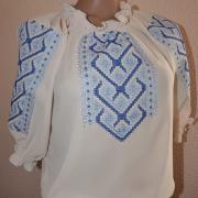Шифоновая вышитая блуза купить в Киеве