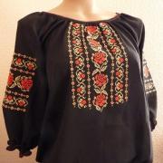 Чорна шифонова блузка