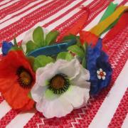 Украинский венок с полевыми цветами заказать Киев