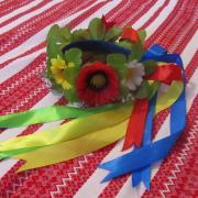 Украинский венок с полевыми цветами купить Киев