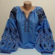 Джинсовая вышитая блуза Бохо купить