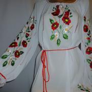 Белая шифоновая блузка купить Киев