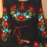 Женская черная блузка из шифона купить Киев