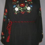 Вишиванка на шифоні чорна купити Київ