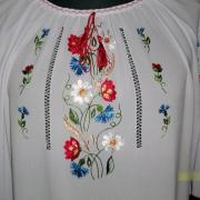 Женская вышитая блуза из шифона купить Киев