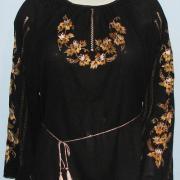 Чорна жіноча шифонова блузка купити Київ