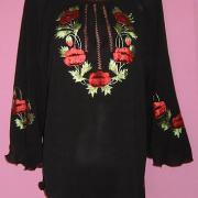 Жіноча блузка з шифону з маками купити