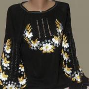 Блузка вышиванка из шифона купить Киев