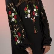 Блуза з шифону чорного кольору купити