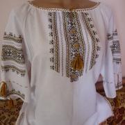 Качественная блузка вышиванка на домотканом полотне купить Киев