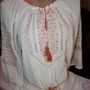 Вишита блузка з шифону з орнаментом купити Київ