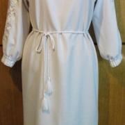 Украинское платье белым по белому