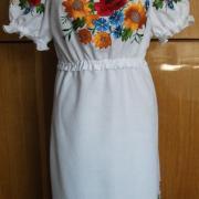 Українське вишите плаття - маки і соняшники