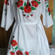 Украинское женское платье с вышивкой