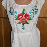Украинское вышитое платье без рукавов