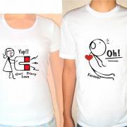"""Парні футболки """"Сила тяжіння"""" фото"""