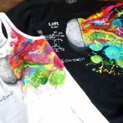 """Парні футболки ручного розпису """"Мозок"""" фото"""