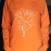 """Жіночий свитшот ручного розпису """"Квітка Лотоса"""" фото"""