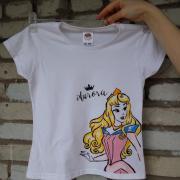 """Дитяча футболка ручного розпису """"Принцеса Аврора"""" купити"""