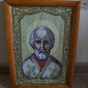 """Вышитая икона """"Николая Чудотворца"""" купить Киев"""