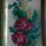 """Картина вишита бісером """"Гілка троянд"""" купити Киїі"""