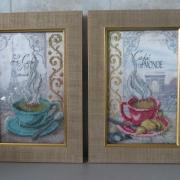 """Вышитая картина """"Чашки на кухню"""" купить Киев"""