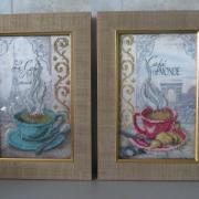 "Вишита картина ""Чашки на кухню"" купити Київ"