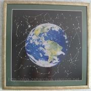 """Вышитая крестом картина """"Планета Земля"""""""